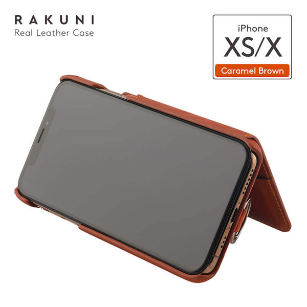 RAKUNI Leather Case for iPhone XS / X