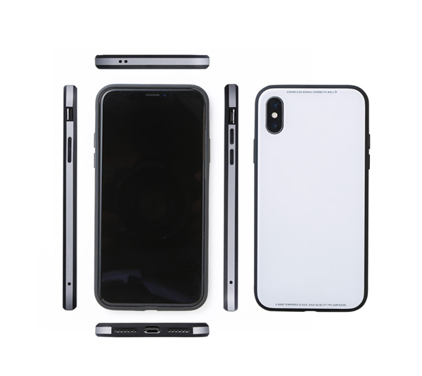 Glass&Aluminum&TPU Case Etanze for iPhone XS