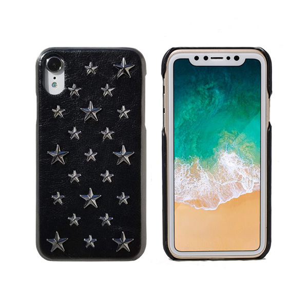 mononoff Star Studs single for iPhone XR(ブラック)