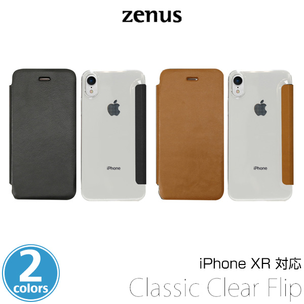 Zenus Classic Clear Flip for iPhone XR