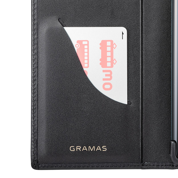 GRAMAS Italian Genuine Leather Book Case for Xperia XZ3
