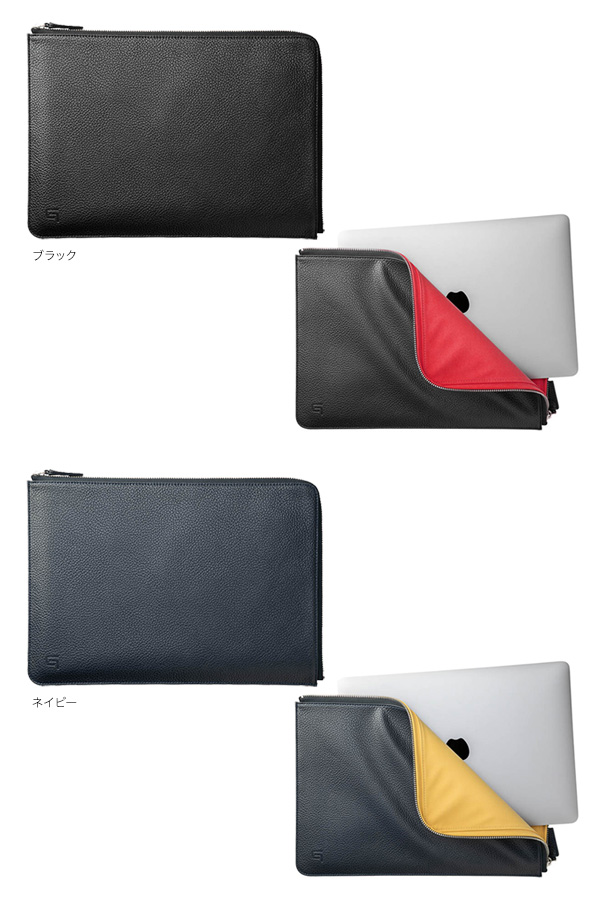 カラー GRAMAS COLORS PU Leather Sleeve for MacBook Pro 13