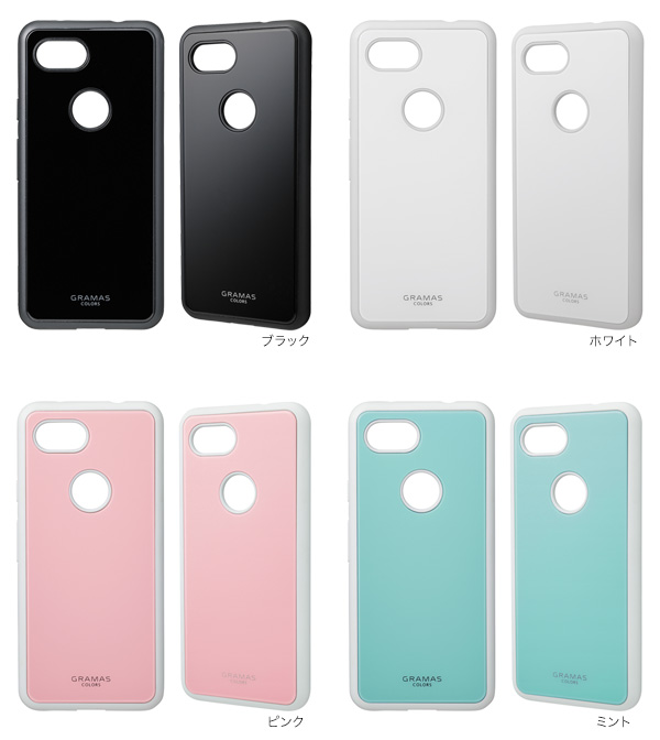 カラー GRAMAS COLORS Glassty Glass Hybrid Shell Case for Google Pixel 3a