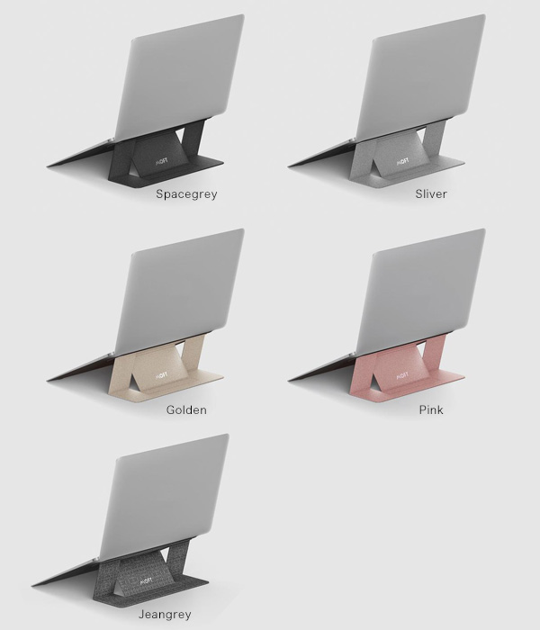 カラー MOFT Adhesive Foldable Laptop Stand