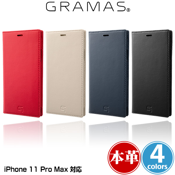 GRAMAS Genuine Leather Book Case for iPhone 11 Pro Max