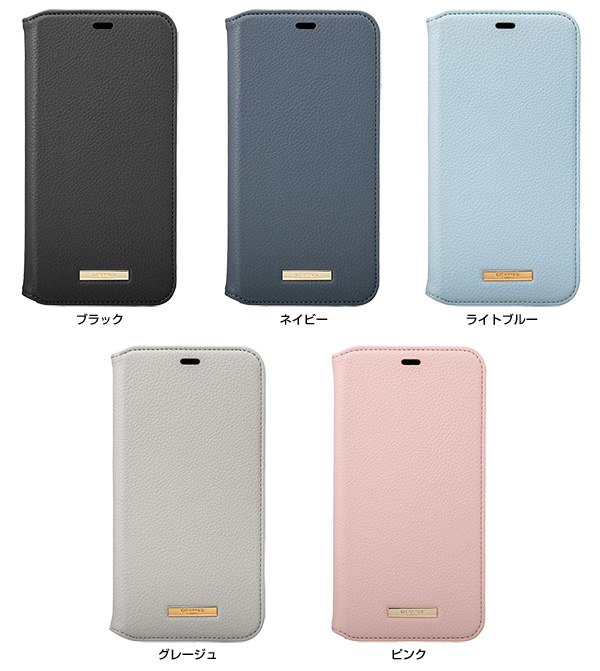 カラー GRAMAS Shrink PU Leather Book Case for iPhone 11 Pro Max