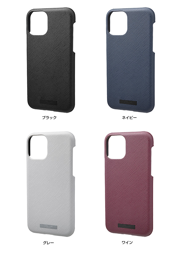 カラー GRAMAS EURO Passione PU Leather Shell Case for iPhone 11 Pro