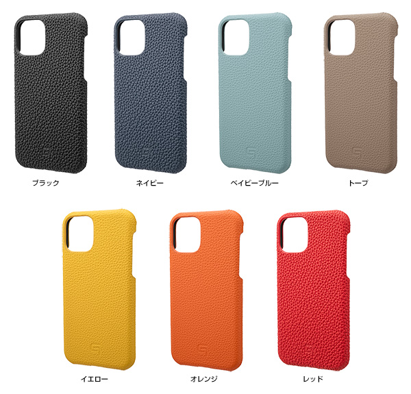カラー GRAMAS Shrunken-calf Leather Shell Case for iPhone 11 Pro