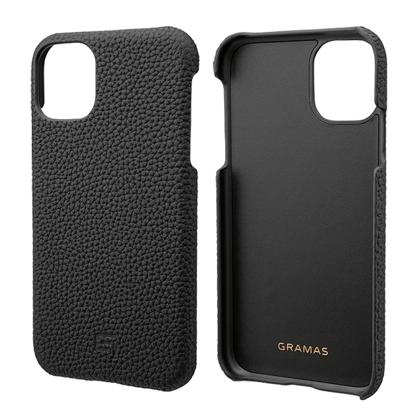 GRAMAS Shrunken-calf Leather Shell Case for iPhone 11