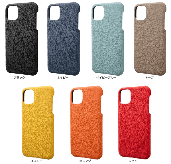 カラー GRAMAS Shrunken-calf Leather Shell Case for iPhone 11 Pro Max