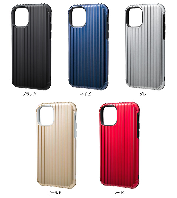 カラー GRAMAS Rib Hybrid Shell Case for iPhone 11 Pro
