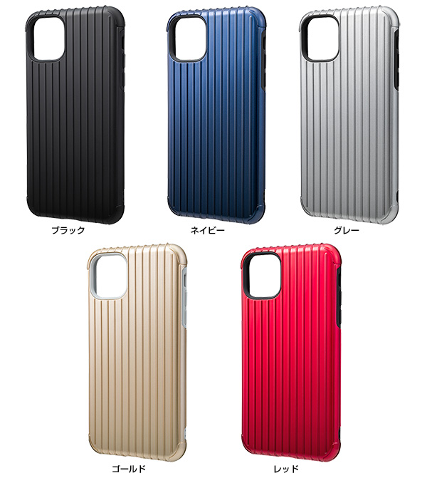 カラー GRAMAS Rib Hybrid Shell Case for iPhone 11 Pro Max