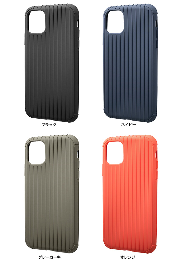 カラー GRAMAS Rib Light TPU Shell Case for iPhone 11