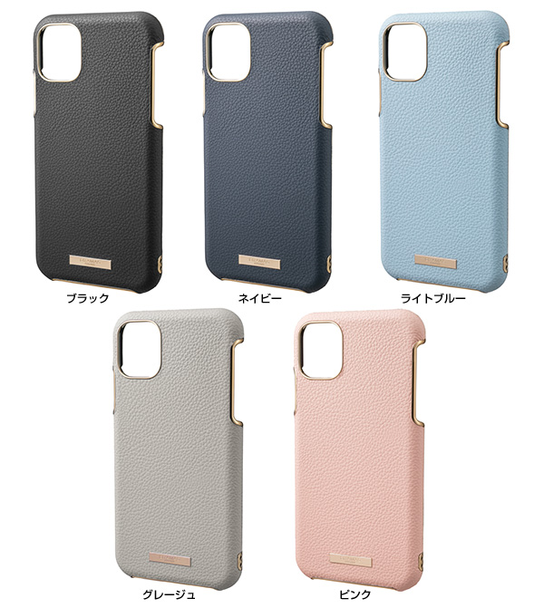 カラー GRAMAS Shrink PU Leather Shell Case for iPhone 11 Pro Max