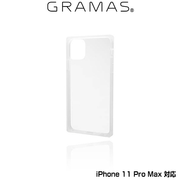 GRAMAS Glassty Glass Hybrid Shell Case for iPhone 11 Pro Max(クリア)