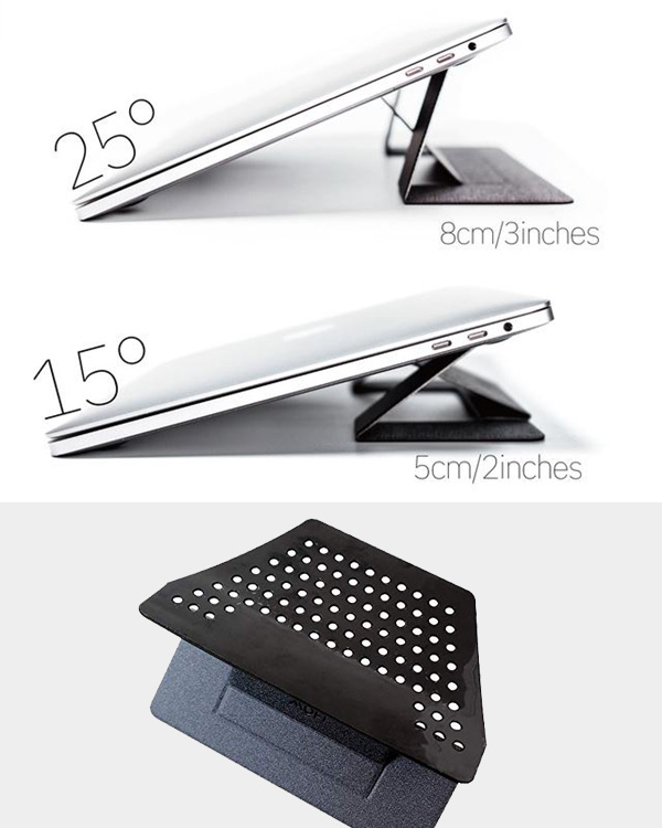 MOFT Adhesive Foldable Laptop Stand With Ventilate Hole