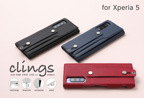 clings Slim Hand Strap Case for Xperia 5 SO-01M SOV41