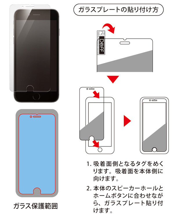 High Grade Glass Screen Protector for iPhone SE 第2世代 (2020) / 8 / 7 / 6s / 6(ブルーライトカット)