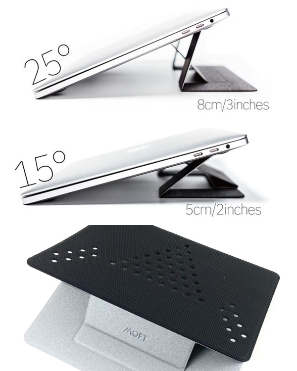 MOFT Non-adhesive Foldable Laptop Stand(Silver)