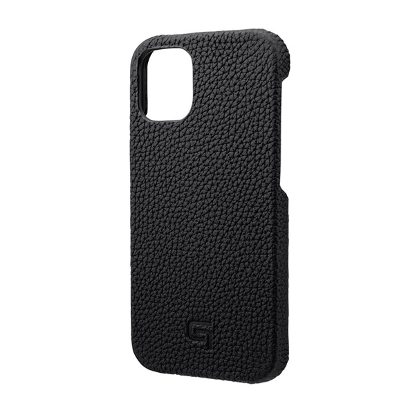 GRAMAS Shrunken-calf Genuine Leather Shell Case for iPhone 12 mini