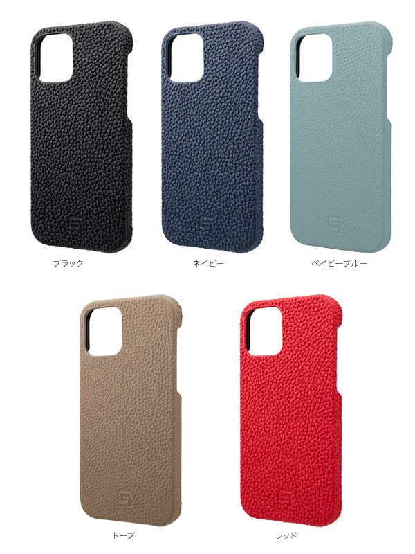 カラー GRAMAS Shrunken-calf Genuine Leather Shell Case for iPhone 12 mini