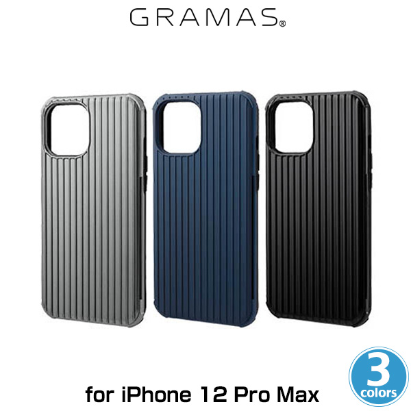GRAMAS COLORS Rib-Slide  Hybrid Shell Case for iPhone 12 Pro Max