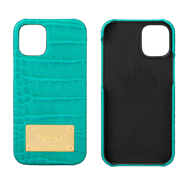 GRAMAS COLORS Croco Embossed PU Leather Shell Case  for iPhone 12 mini