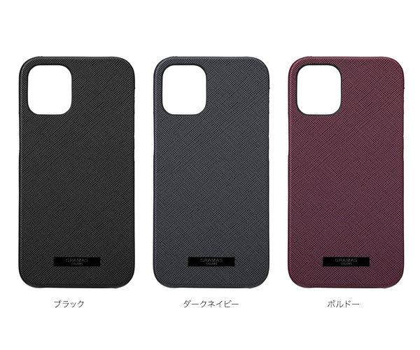 カラー GRAMAS COLORS EURO Passione PU Leather Shell Case for iPhone 12 mini