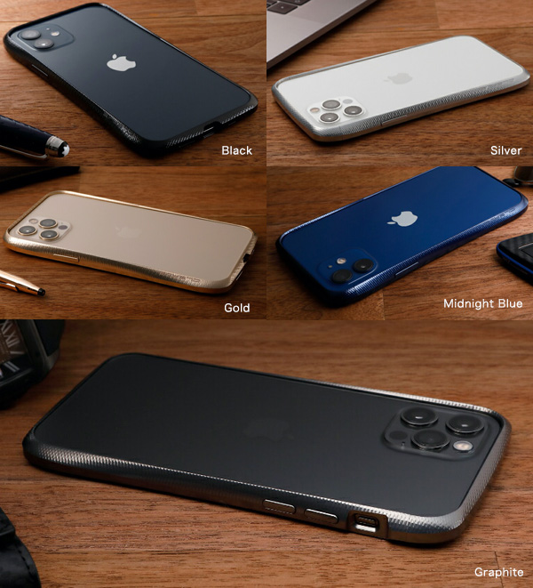 カラー CLEAVE Aluminum Bumper for iPhone12 12 Pro